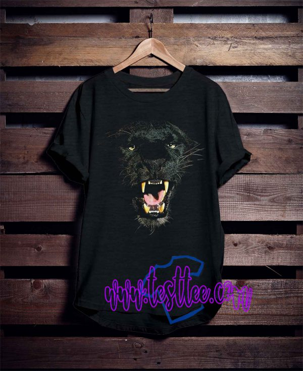 Angry Face Black Panther Tee Shirts