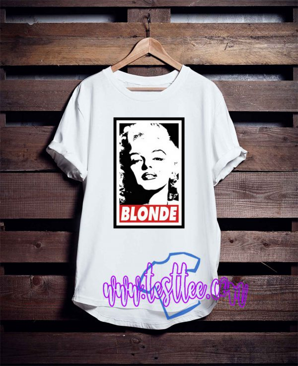 Blonde Marilyn Monroe Tee Shirts