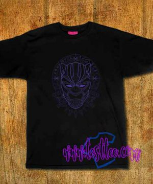 Cheap Vintage Tees The Black Panther purple