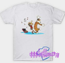 Cheap Vintage Tees Calvin And Hobbes Dance