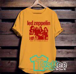 Cheap Vintage Tees Led Zeppelin World Tour