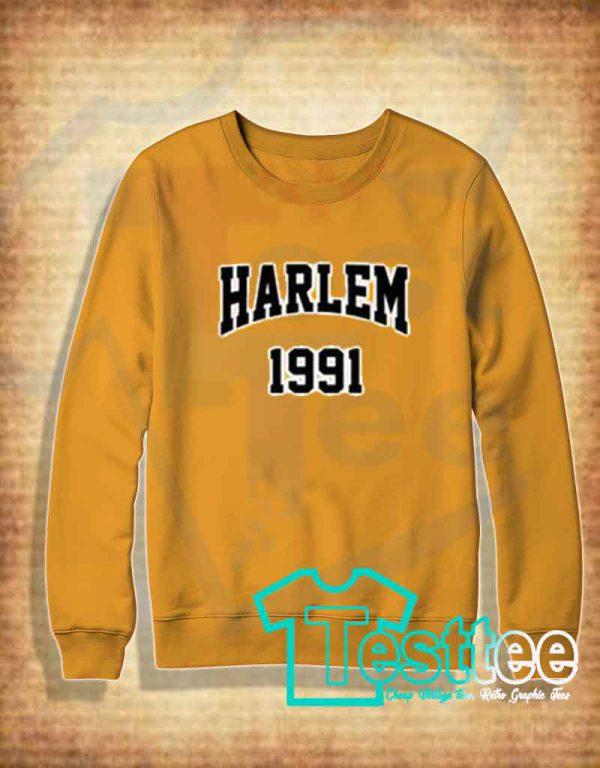 Cheap Vintage Sweatshirt Harlem 1991