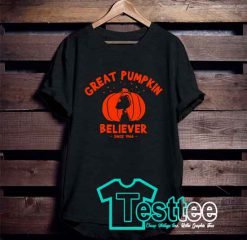Cheap Vintage Tees Great Pumpkin Believer