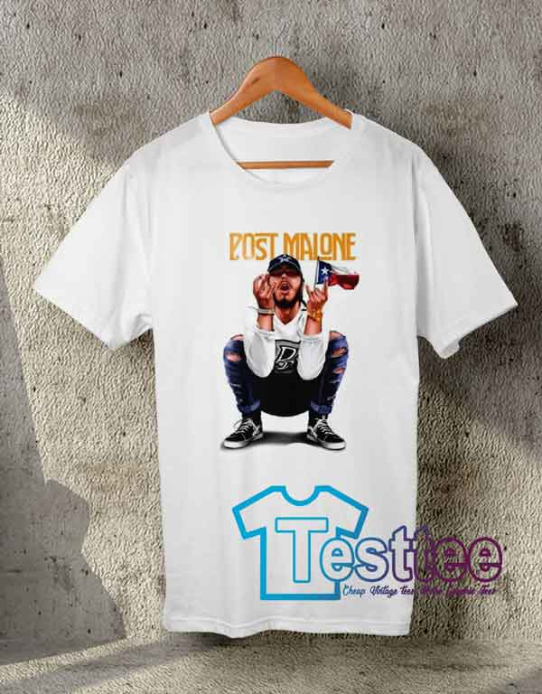 Cheap Vintage Post Malone White Iverson Tees