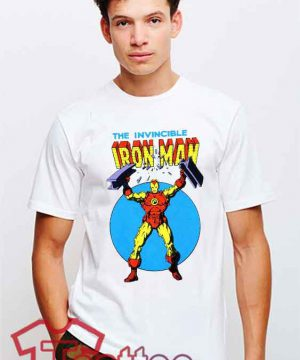 Cheap Vintage Iron Man Logo Tees