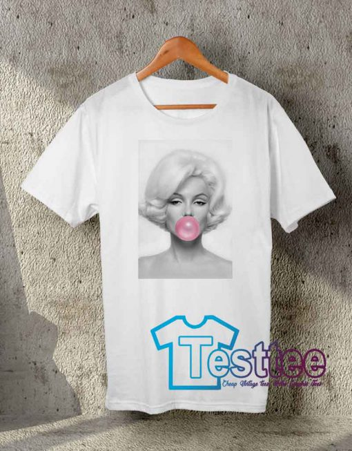 Cheap Vintage Tees Marilyn Monroe Bubble Gum