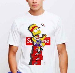 Cheap Bart Simpson X Supreme Sneakers Tees