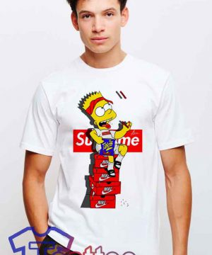 Cheap Bart Simpson X Supreme Sneakers Tees