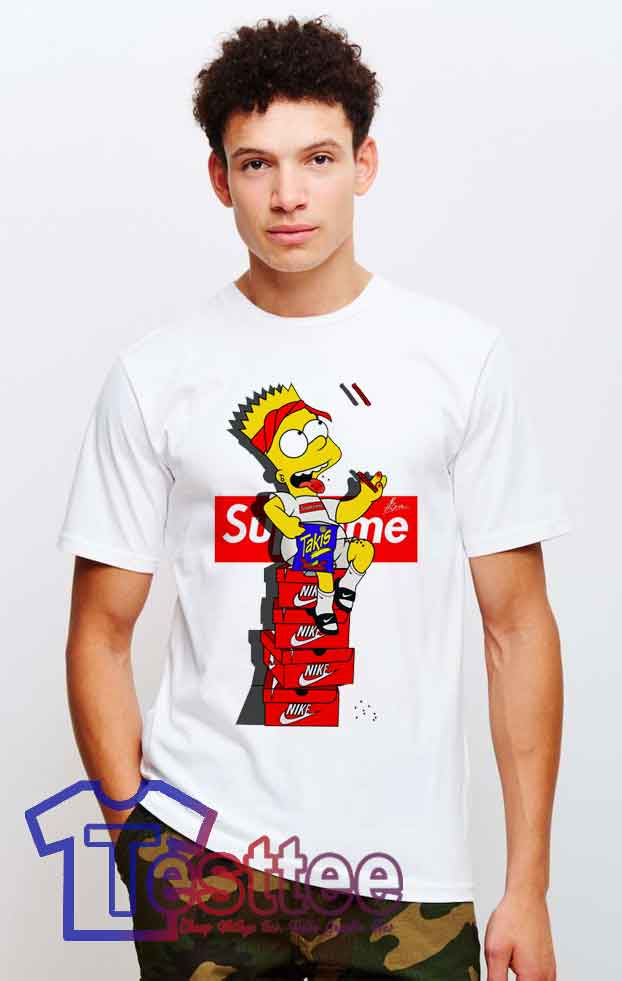 fe315c1784d9 Cheap Bart Simpson X Supreme Sneakers Tees - Hype outfits - Testtee