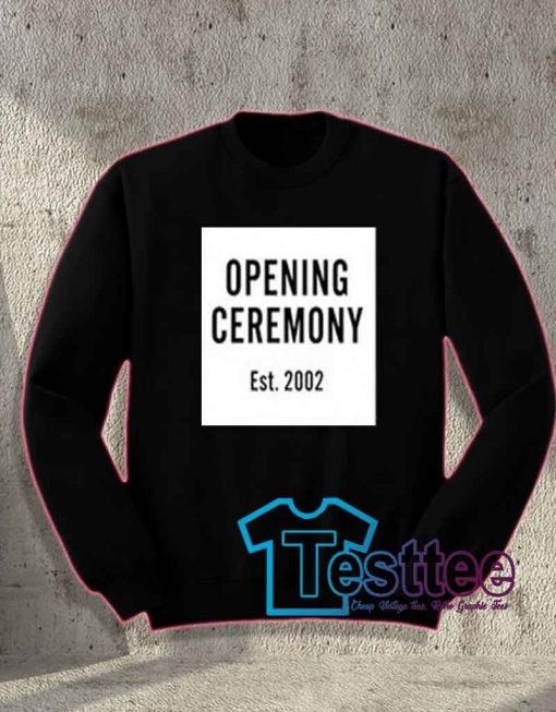 Cheap Vintage Opening Ceremony Est 2002 Sweatshirt