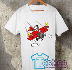 Cheap Vintage Tees Snoopy Sky