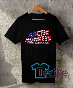 Cheap Vintage Tees Stars And Stripes Arctic Monkeys Band