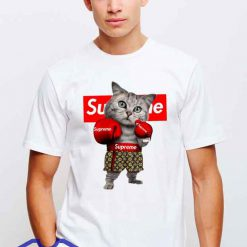 Cheap Supreme X Boxing Cat Tees