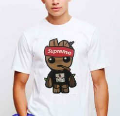 Cheap Supreme X Gucci Mane X Baby Groot Tees
