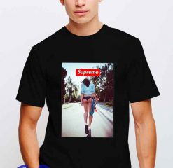 Cheap Supreme X Lady Skateboard Tees