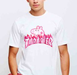 Cheap Vintage Tees Thrasher Peppa Pig Parody