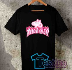 Cheap Vintage Tees Thrasher Peppa Pig Parody