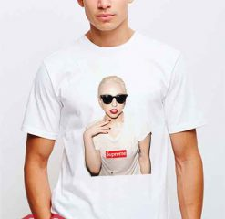 Cheap Supreme X Lady Gaga Tees