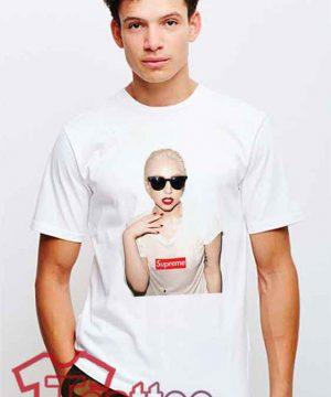 Cheap Supreme X Lady Gaga Tees
