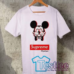 Cheap Supreme X Mickey Mouse Fuck You Tees