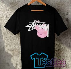 Cheap Vintage Tees Peppa Pig X Stussy Collabs