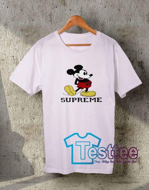 Cheap Vintage Tees Supreme X Mickey Mouse