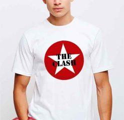 Cheap Vintage The Clash Logo Tees