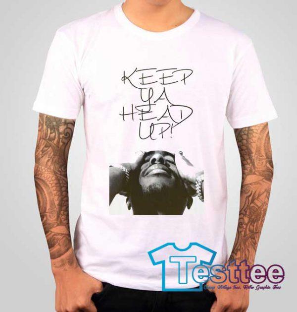 Cheap Vintage Tupac Shakur Ya Head Up Tee