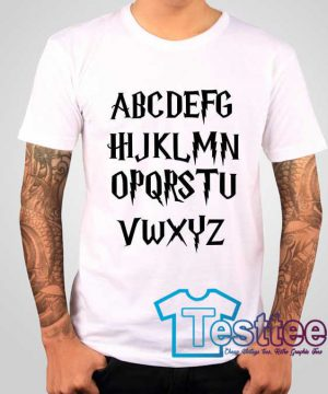 Cheap Vintage Alphabet Fonts Harry Potters Tee