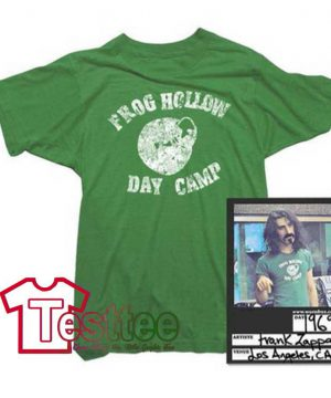 Cheap Vintage Frank Zappa Frog Hollow Day Camp Tees