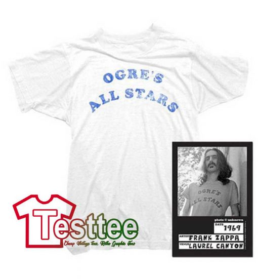 Cheap Vintage Frank Zappa Ogre's All Stars Tees