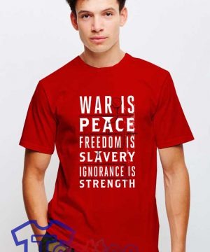 Cheap Vintage George Orwell War Is Peace Tee