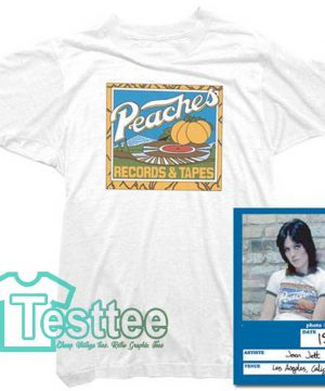 Cheap Vintage Joan Jett Peaches Records And Tapes Tee