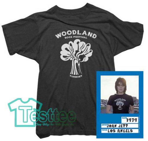 Cheap Vintage Joan Jett Woodland Rock Festival Tee