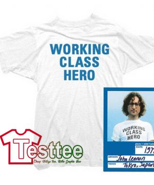 Cheap Vintage John Lennon Working Class Hero Tee