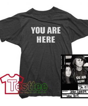 Cheap Vintage John Lennon You Are Here Tee