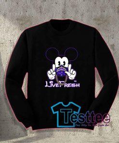 Cheap Vintage Mickey X Bape Live Fresh Sweatshirt