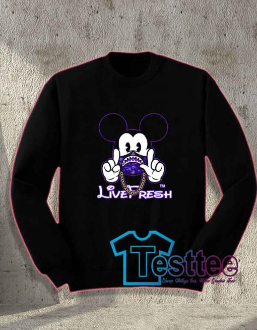 Cheap Vintage Mickey X Bape Live Fresh Sweatshirt