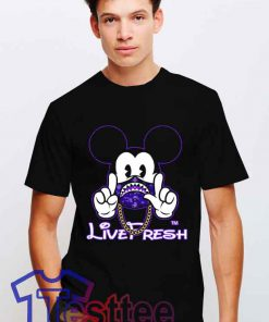 Cheap Vintage Mickey X Bape Live Fresh Tee