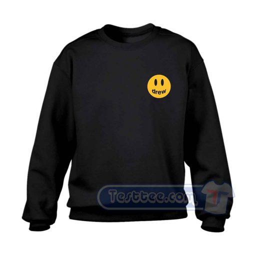 Justin Bieber Drew Smile Pocket Sweatshirt