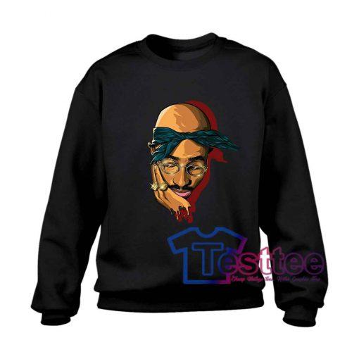 Tupac Shakur Face Sweatshirt