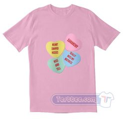 Xanarchy Heart Shaped Kisses Light logo Tees