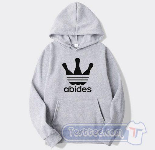 Abides Big Lebowski Adidas Parody Hoodie