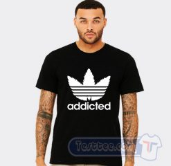 Addicted Adidas Parody Tee