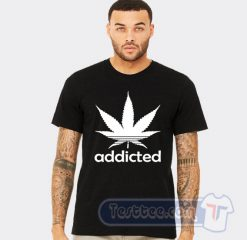 Addicted Cannabis Adidas Parody Tee