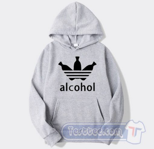 Alcohol Adidas Parody Hoodie