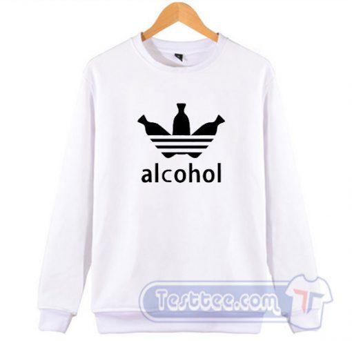 Alcohol Adidas Parody Sweatshirt