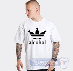 Alcohol Adidas Parody Tee