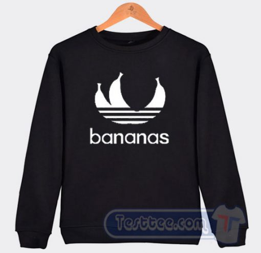 Bananas Adidas Parody Sweatshirt