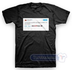Kanye West Apologize Tweet Tee